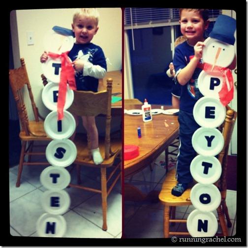 Snowman Name Craft Fun Family Crafts