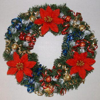 Christmas Candy Wreath