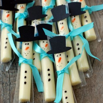 String Cheese Snowman