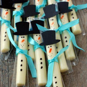 String Cheese Snowman