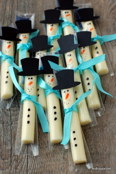 String Cheese Snowmen