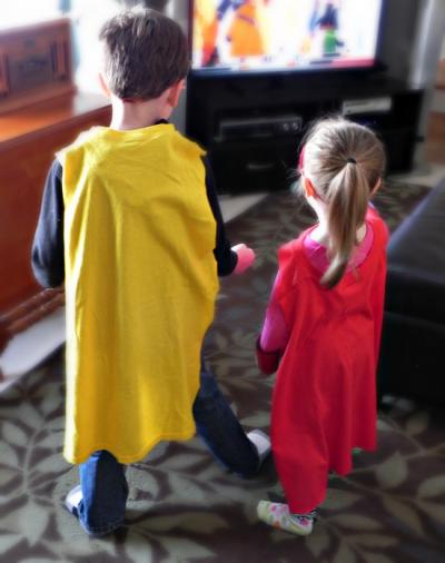 T-shirt Superhero Capes
