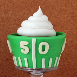 Edible Football Field Cupcake Wrappers