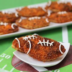 Potato Fritter Footballs