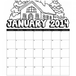 January 2014 Coloring Calendar
