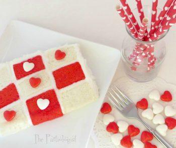 Valentine Tic Tac Toe Cake
