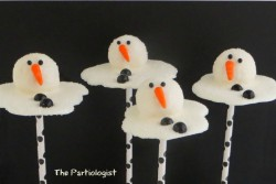 Melted Snowman Cake Pops!