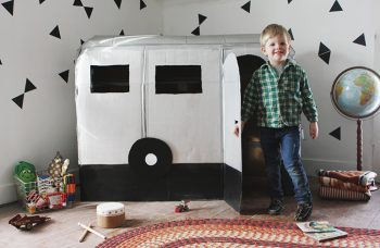 Cardboard Camper Playhouse