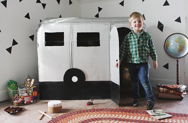 Cardboard Camper Playhouse