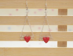 Easy Heart Dangle Earrings