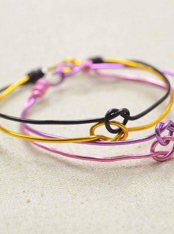 Love Knot Bangle Bracelets