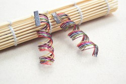 Make Rainbow Coiled Wire Earrings