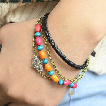 Bohemian Style Leather Bracelet