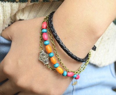 Bohemian Style Leather Bracelet