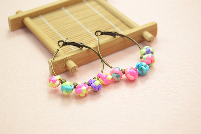 Chinese Button Knots Earrings