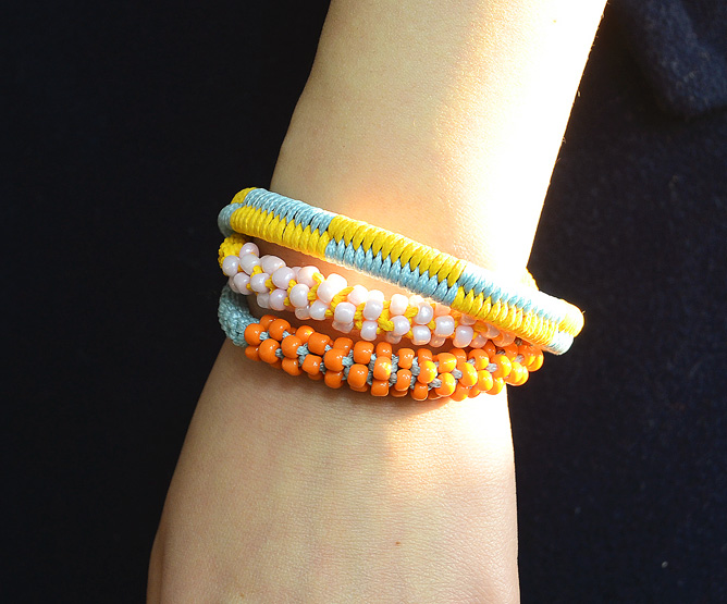 Two Color Woven Fishtail Friendship Bracelet
