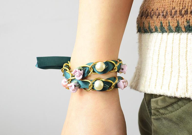 Multi Strand Ribbon Bracelet
