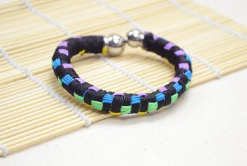 Multi-Color Block Friendship Bangle Bracelet