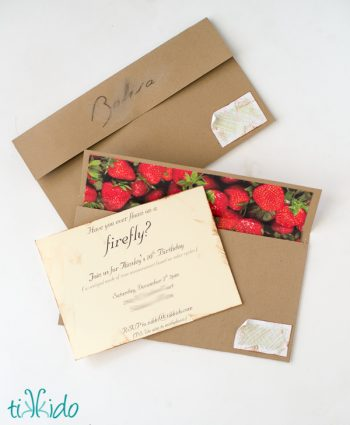 DIY Lined Envelope