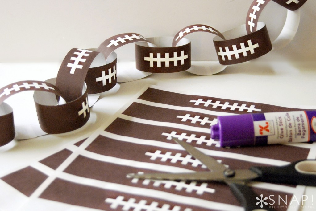 Football Paper Chain Fun Family Crafts