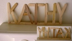 Popsicle Stick Name Art