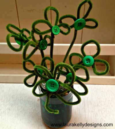 Pipe Cleaner Shamrock Centerpiece