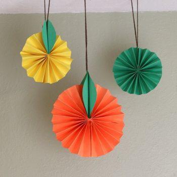 Citrus Fruit Paper Craft