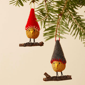 Almond Bird Ornament