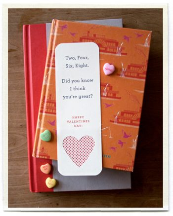 Valentine Bookmark