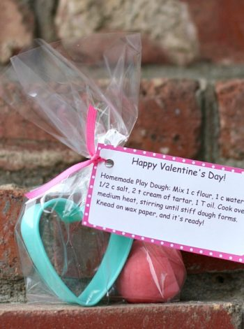 Homemade Play Dough & Cookie Cutter Valentine