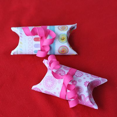 Cardboard Tube Valentine Pillow Boxes