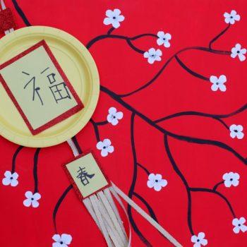 Chinese New Year Paper Plate Lantern