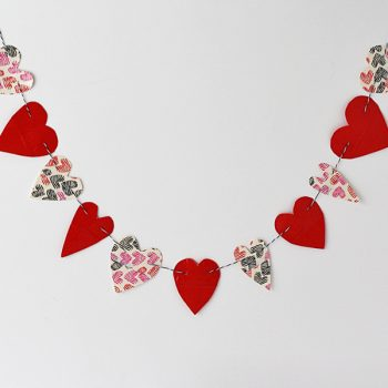 Duct Tape Heart Bunting