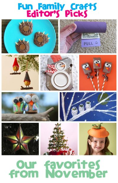 Fun Family Crafts - Editors' Picks: November 2013