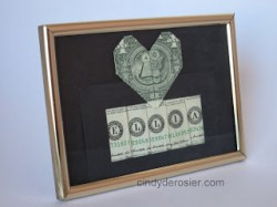 Framed Names Spelled with Money