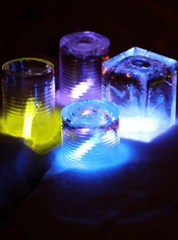 Glow Stick Ice Luminaries