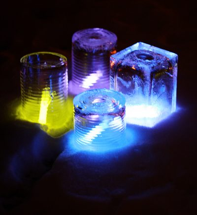 Glow Stick Ice Luminaries