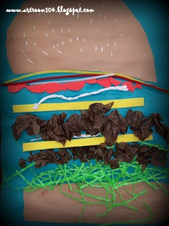 Mixed Media Hamburgers