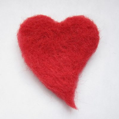 Needle Felted Hearts