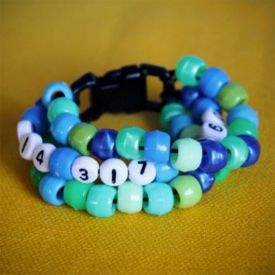 Beaded Phone Number Bracelet
