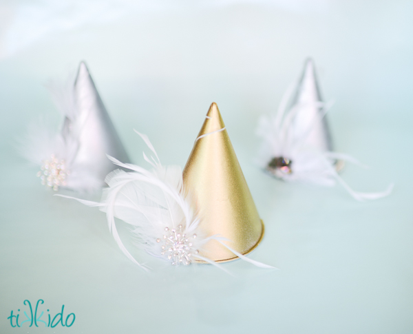 Elegant Snow Cone Party Hats