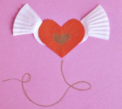 Winged Heart Paper Valentines