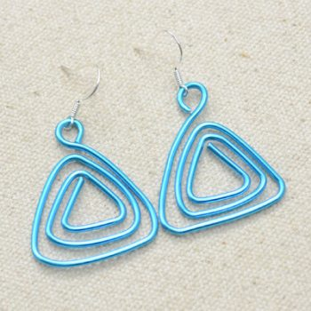 Wire Coiled Hanger Earrings