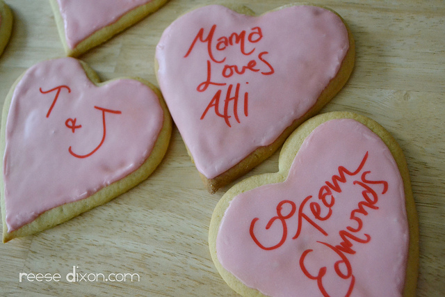 Personalized Cookie Valentines