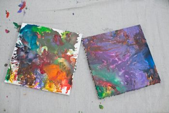 Melted Crayon Recycled Art
