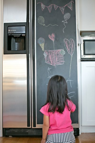 5 Minute DIY Chalk Refrigerator