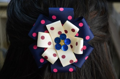 Ribbon Flower Hair Clip