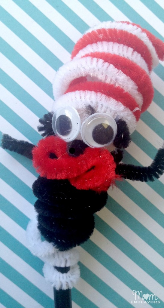 Cat in the Hat Pencil Topper/Finger Puppet