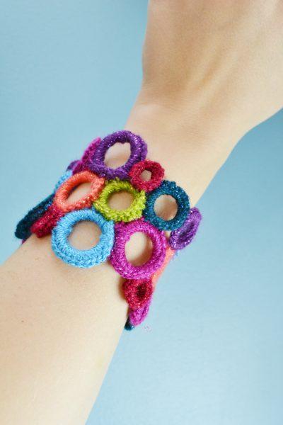 Crochet Circle Cuff
