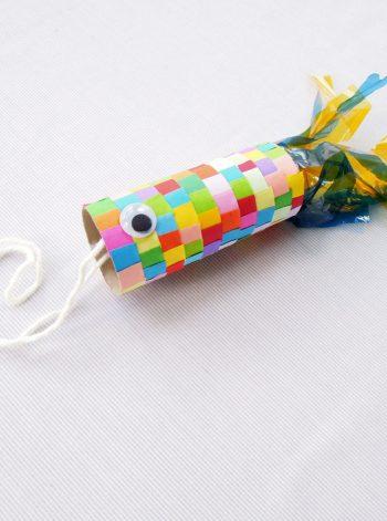 Colorful Cardboard Tube Fish
